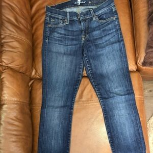 7 For All Mankind skinny leg jeans, size 25